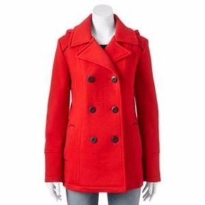Apt. 9 Red Pea Coat Petite Small